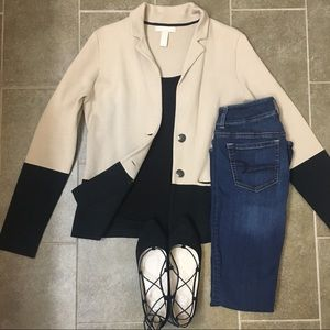 Banana Republic tan black color lock blazer jacket
